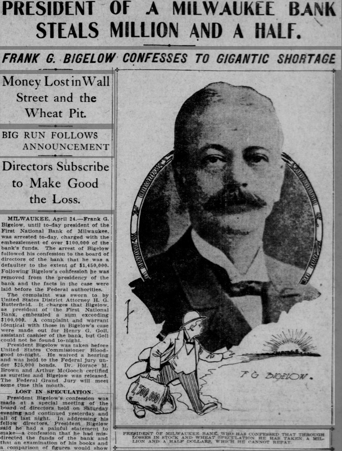 1905 news story Frank Bigelow