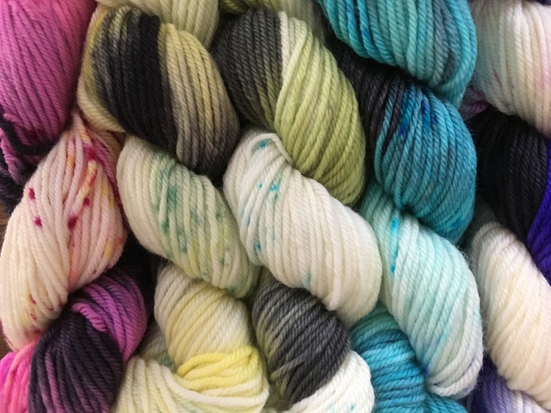 speckle gradient mini-skeins